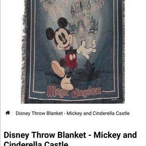 Mickey Mouse Disney castle blanket
